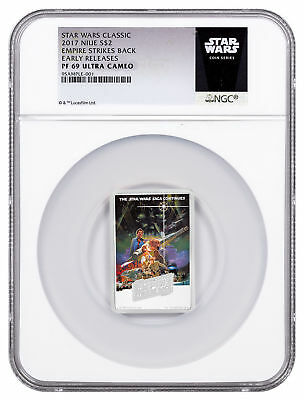2017 Star Wars Posters Empire Strikes Back 1oz Silver $2 NGC PF69 UC ER