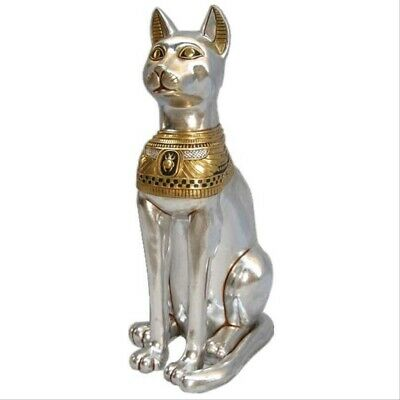 Egyptian Animal Bastet Cat Goddess Small Life Size Prop Decor Resin Statue