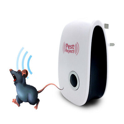 Ultrasonic Plug In Pest Control Repeller Reject Rat Mouse Mice Insect Spider UK