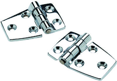 2 Pack of 2-1//4 x 1-1//2 Inch Chrome Plated Zinc Short Side Hinges for Boats