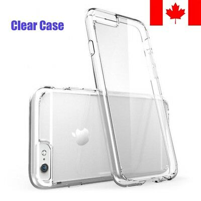 For iPhone 6 6S / Plus Clear Case - Superior Soft Rubber TPU Bumper Cover
