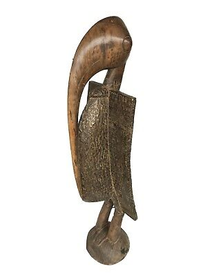 "Huge Senufo Bird Wood Sculpture Mask Côte d'Ivoire 58""h"