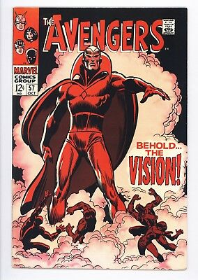 Avengers #57 Vol 1 Near Perfect High Grade 1st Appearance of the Vision