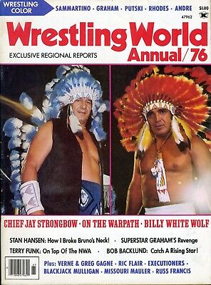 CHIEF JAY STRONGBOW/BILLY WHITE WOLF Wrestling World Annual Magazine 1976