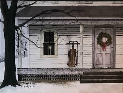 Billy Jacobs Winter Porch Lighted Wrapped Canvas