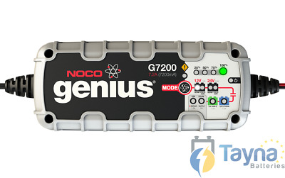 NOCO G7200 7.2A Fully Intelligent 12 Step Genius Charger