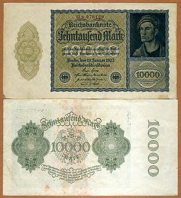 Germany, 10000 (10,000) Mark, 1922, Pick 72 VF