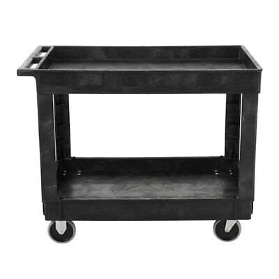 Rubbermaid Commercial 2 Shelf Service / Utility Cart in Black