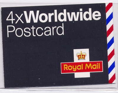 GB 2004 4 x WORLDWIDE POSTCARD STAMPS SELF ADHESIVE BARCODE BOOKLET MJA1