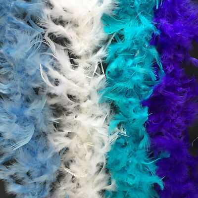 2M Feather Boa Strip Fluffy Craft Costume Fancy Dress UP Wedding Party Decor DO1
