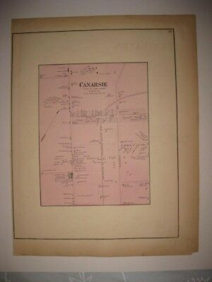 Vintage Antique 1873 Canarsie Brooklyn New York Handcolored Map Superb Rare Nr