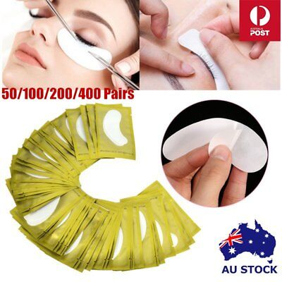 50-400 x Under Eye Curve Eyelash Pads Gel Patch Lint Free Lash Extension Beauty