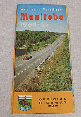 1964-65 Official Manitoba Canada map