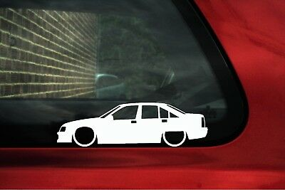 2x Lowered car outline stickers for RENAULT Dauphine Ondine Classic