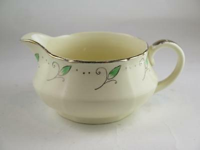 REPLACEMENT CHINA Vintage ROYAL MARIGOLD Gravy Jug Green Alfred Meakin 1930s