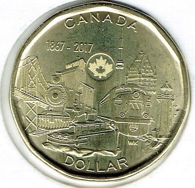 2017 Canadian Commemorative Brilliant Uncirculated Connecting a Nation $1 Coin!