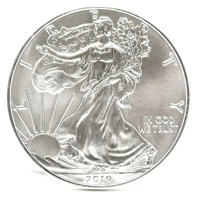 2019 American Eagle 1 oz Fine Silver Dollar - One Ounce - United States Mint Unc