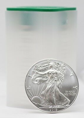 Coin Roll - 2019 American Eagle 1 oz Fine Silver Dollars - Uncirculated US Mint