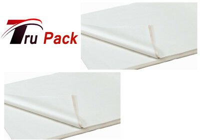 100 SHEETS OF WHITE COLOURED ACID FREE WRAPPING TISSUE PAPER 450x700mm 16GSM