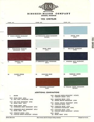 1955 CHRYSLER WINDSOR NEW YORKER SARATOGA CROWN IMPERIAL 55 PAINT CHIPS MS 3