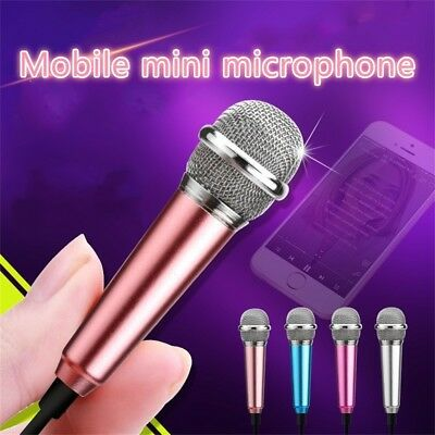 3.5mm Wired Condenser Karaoke Mini Microphone For Computer Android Smartphones