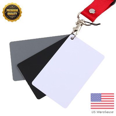 3in1 Gray/White/Black Balance Card 18% Exposure Card Photography NEW