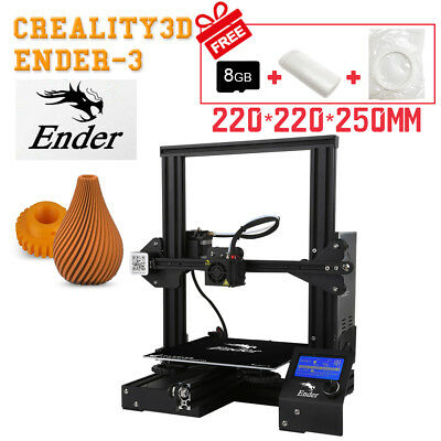 Creality Ender 3 3D Printer Resume Print OSHW Certified 220X220X250mm 24V 15A US
