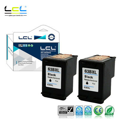 LCL Compatible Ink Cartridge for HP 63XL Officejet 3830 4650 (2-Black) NON-OEM
