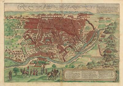 1572 Braun and Hogenberg View Map of Cairo, Egypt