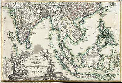 1781 Denis Map of the East Indies (Revolutionary War interest)