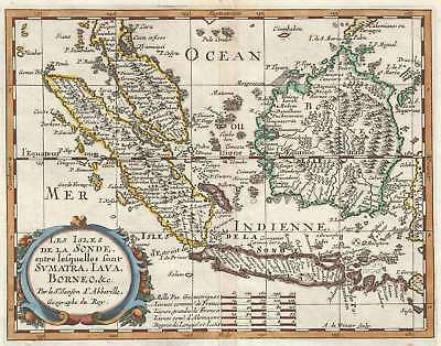 1657 Sanson Map of the East Indies (Sumatra, Java, Borneo)