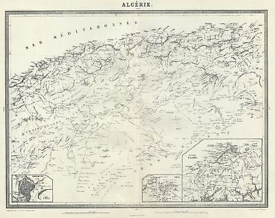 1874 Tardieu Map of Algeria