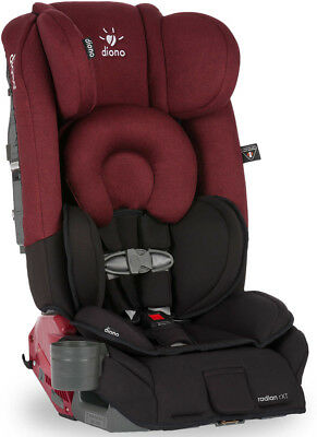 Diono Radian RXT Convertible+Booster Folding Child Safety Car Seat Black Scarlet
