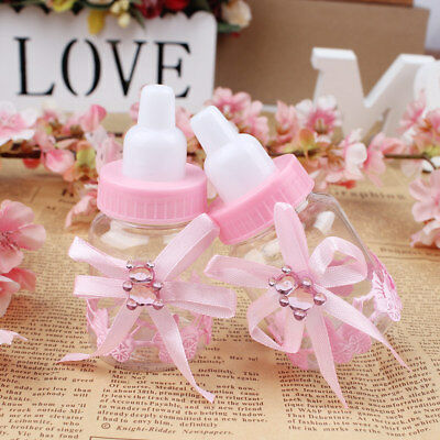 12pcs Fillable Bottles Sweet Candy Boxes Baby Shower Baptism Party Table Decor