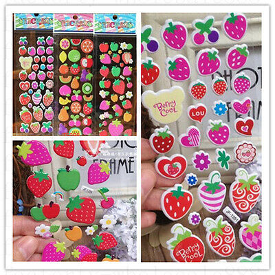 Wholesale Fruit Scrapbooking Paper Crafts Stickers Lot 3D Kids Favor Party Gifts