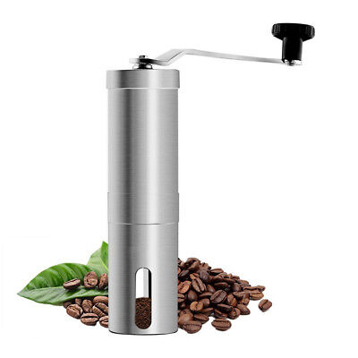 Portable Mini Manual Coffee Grinder Stainless Crank Hand