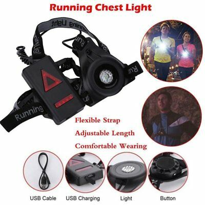 Waterproof LED Running Chest Lamp Warning Light Walking Torch Safety Night Flash