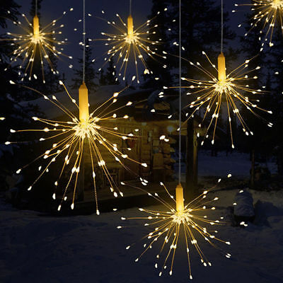 Firework LED Copper Fairy Wire String Lights Remote Control Christmas Decor