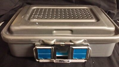 Genesis Medical Surgical Instrument Sterilization Case Container 12 X 8 X 2.75In