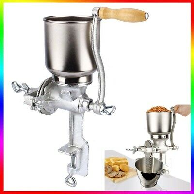 Manual Hand Coffee Bean Nut Grinder Stainless Steel Mill Kitchen Desk Tool UK