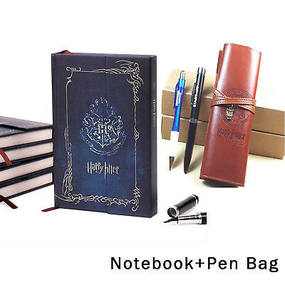 Harry Potter Journal Book Agenda Notebook Notepad And PU Pencil Pen Bag Case Set