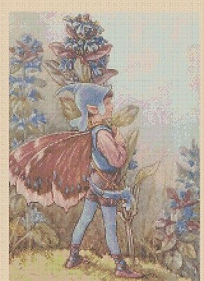 Flower Fairy  Cross stitch chart Bugle No. 428  FlowerPower37-uk