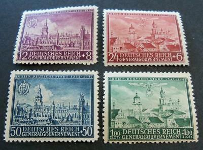 General Government 1942 600th Anniversary of City of Lublin stamp set -MH-