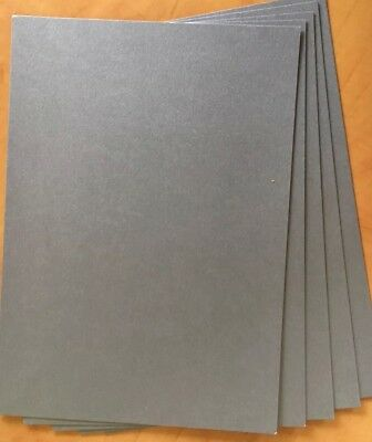 A4 (20) Mercury Silver Shimmer Pearlised Card 250gsm Double Sided Buy 2 + 1 Free