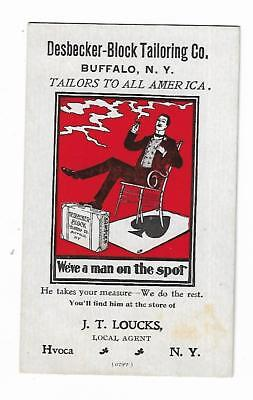 Trade Card Desbecker-Block Tailoring Buffalo NY Loucks Agent Hvoca Woman Pants