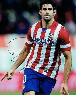 Diego COSTA Signed 10x8 Photo AFTAL COA Autograph Chelsea Athletico Madrid RARE