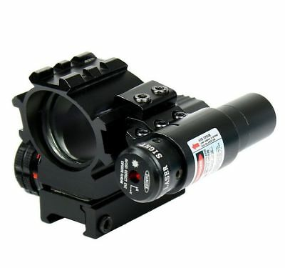 Holographic Red Green Projectoed Dot 4 Reticle Sight Scope Mount With Red Laser