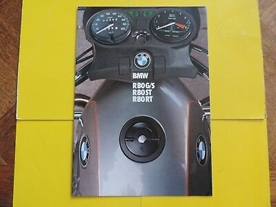 BMW R80 R 80 GS G/S ST RT brochure publicité catalogue catalog prospekt 1982