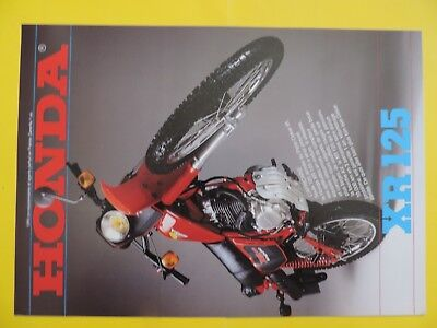 HONDA XR 125 1981 brochure publicité catalogue prospekt