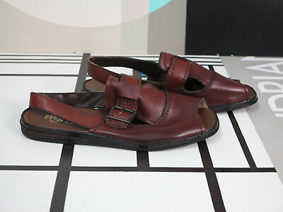 GOLF trans all Leder Herren Sandale 44 Schuh 70er TRUE VINTAGE 70s sandals 8 NOS